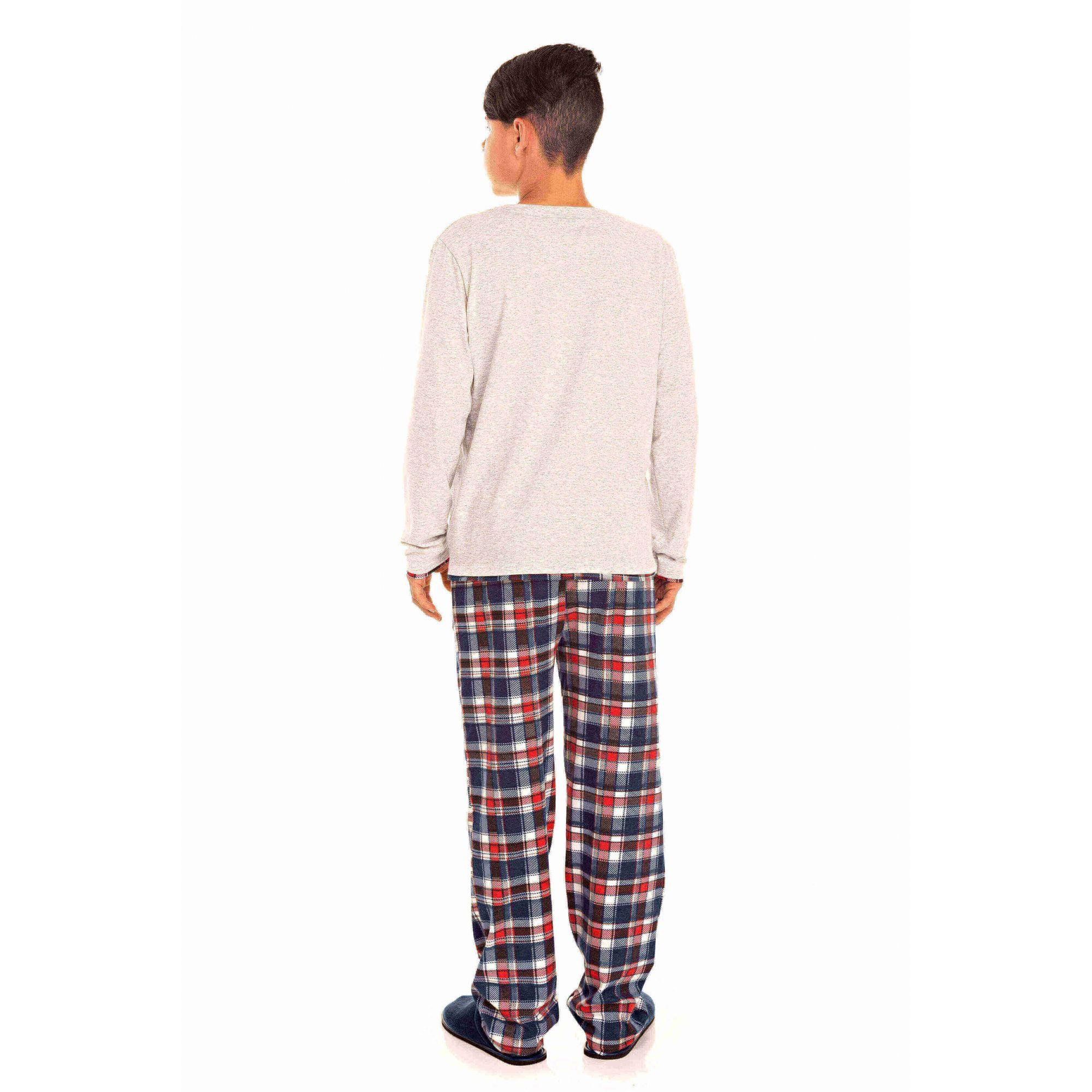 092/E - Pijama  Juvenil Masculino Xadrez