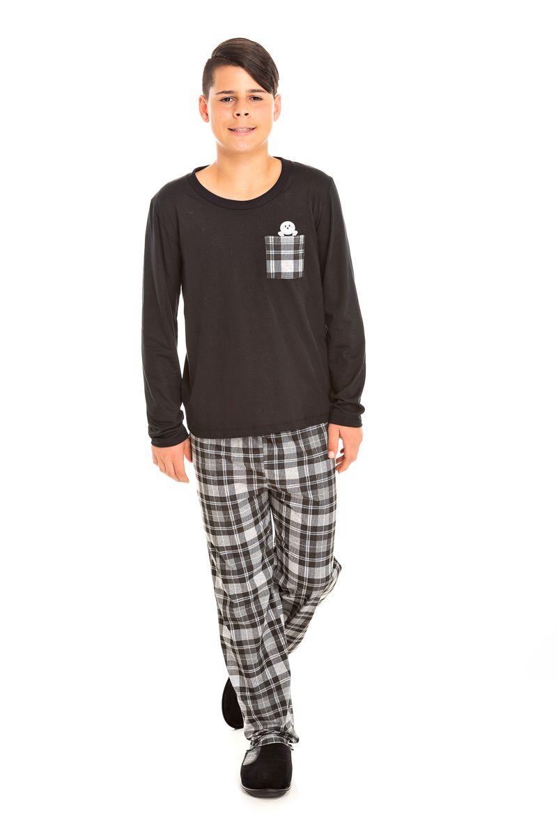 Pijama Juvenil Masculino Xadrez