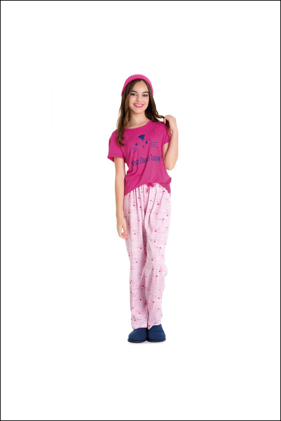 Pijama Juvenil Tal Mãe Tal Filha Gatinha
