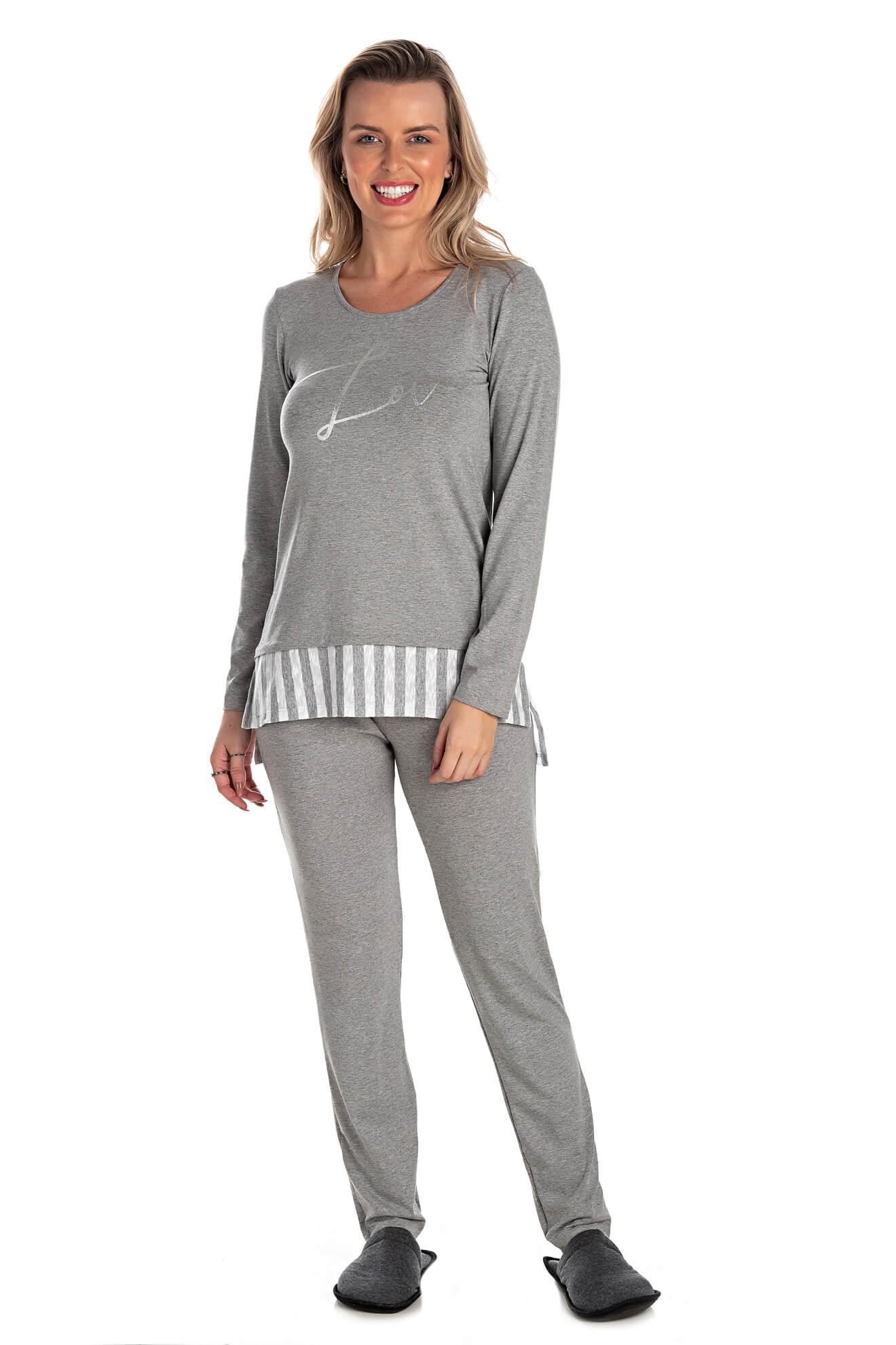009/B - Pijama Longo Adulto Feminino Love