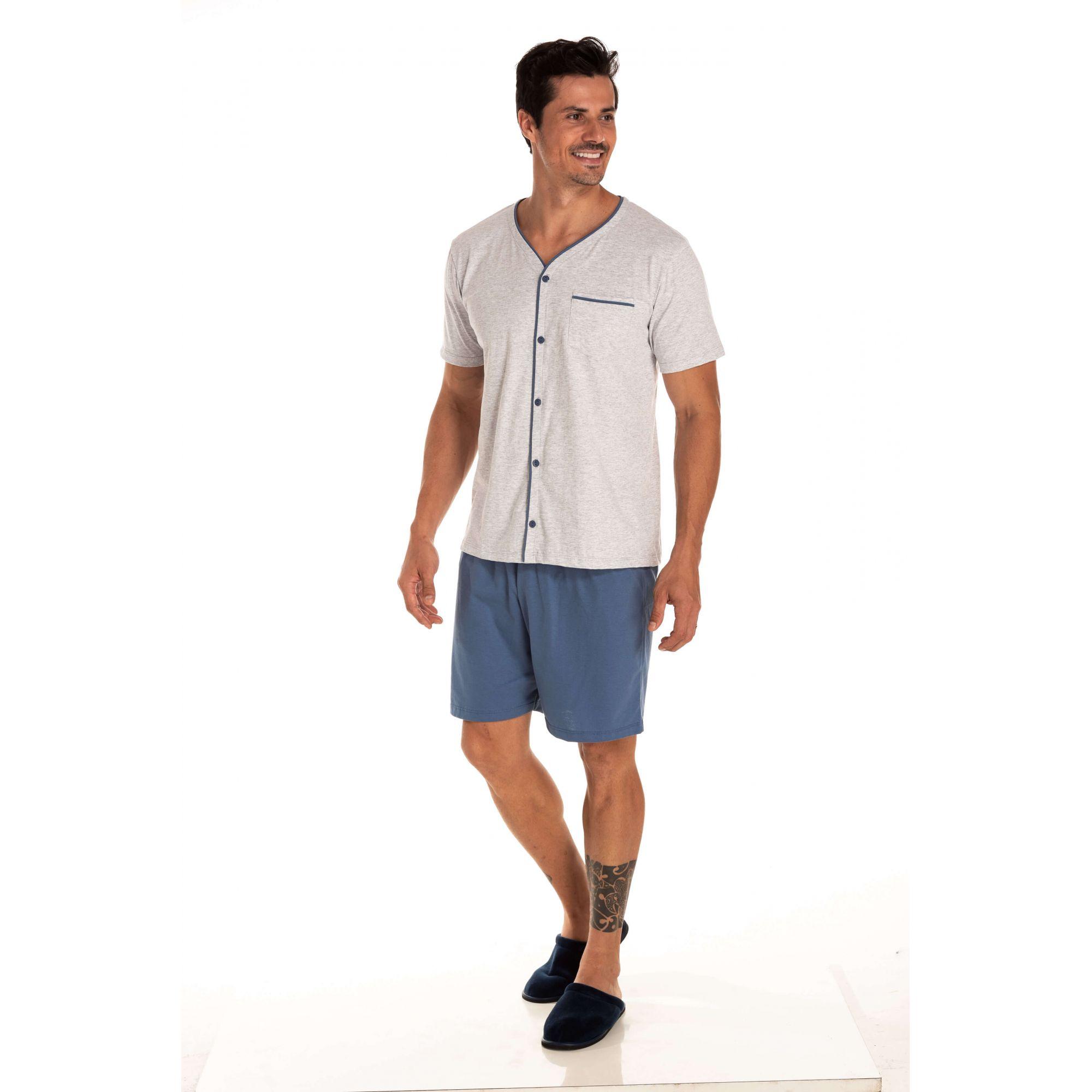 Pijama Masculino Adulto Curto Aberto