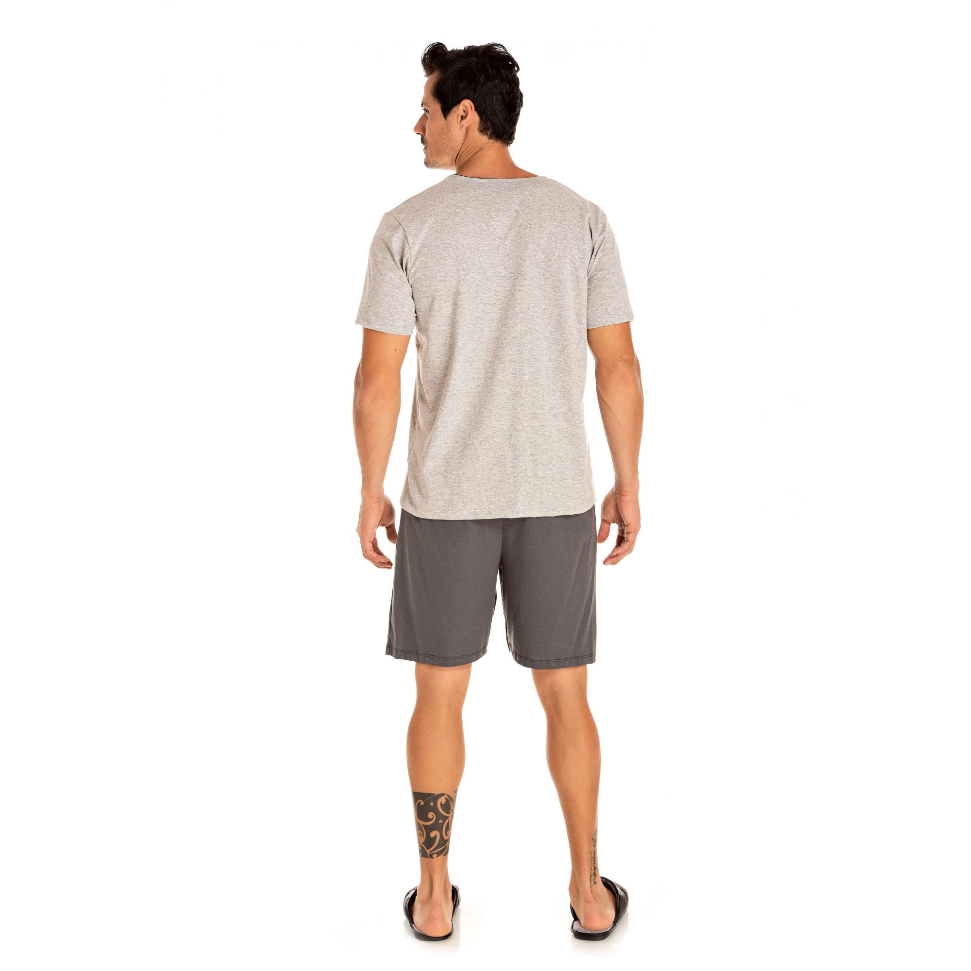 102/E - Pijama Masculino Adulto Curto Aberto