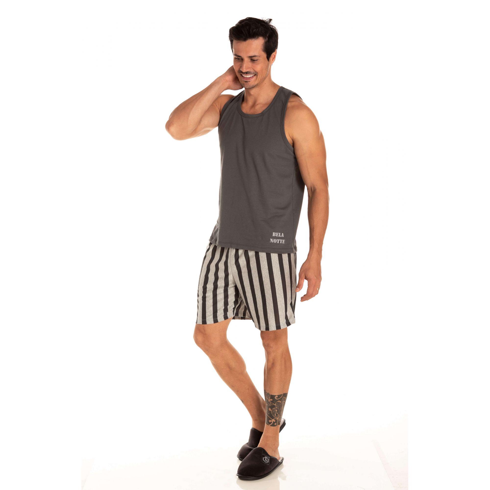Pijama Masculino Adulto Curto Regata