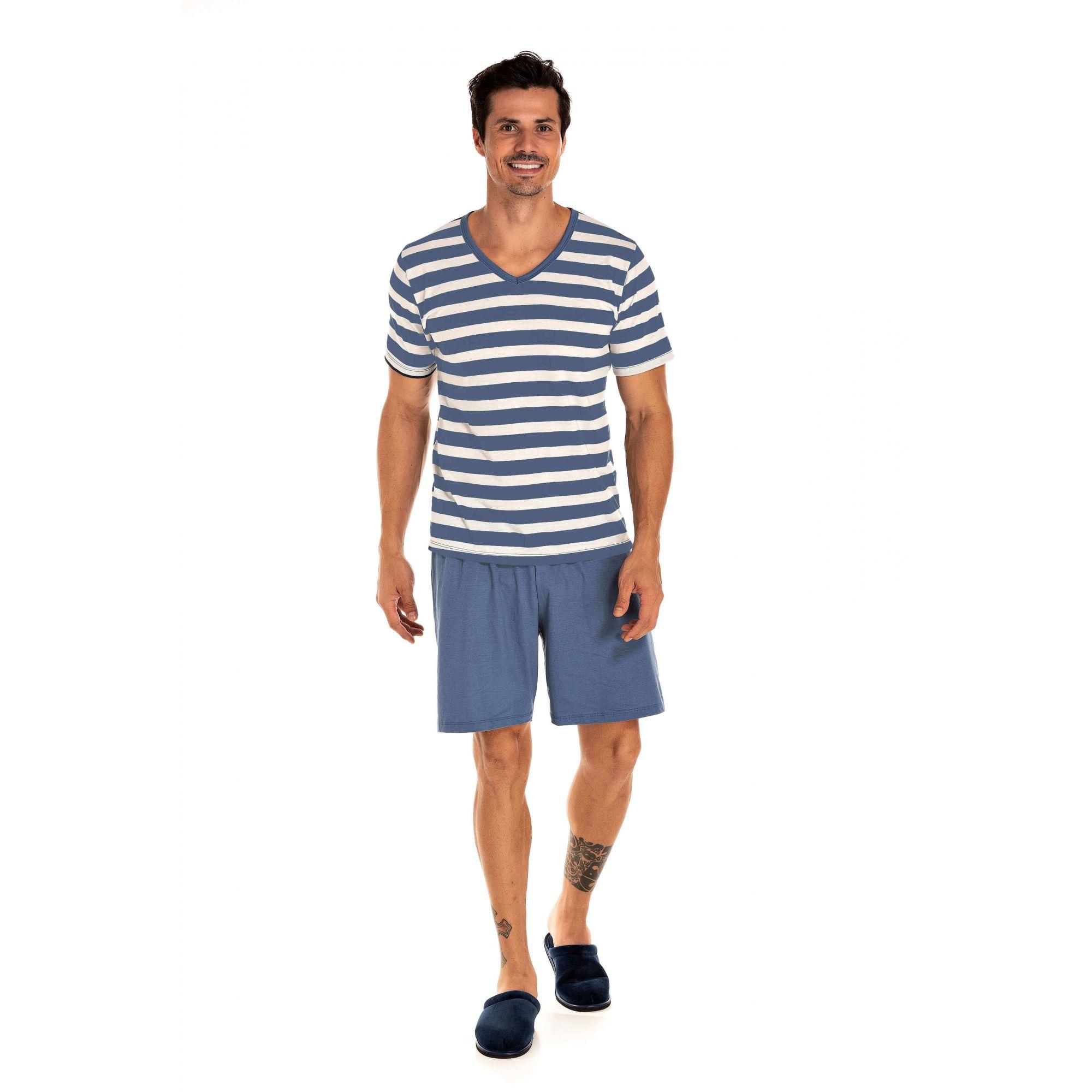 042 - Pijama Masculino Adulto Curto - Pai e Filho