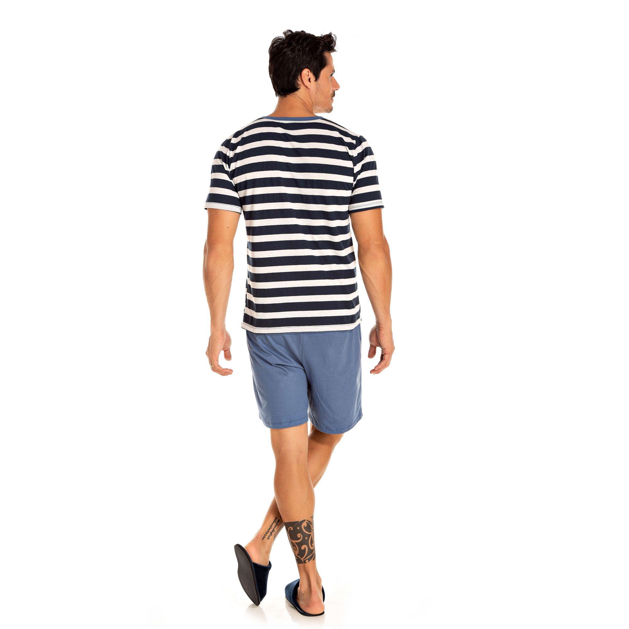 102/A - Pijama Masculino Adulto Curto - Pai e Filho