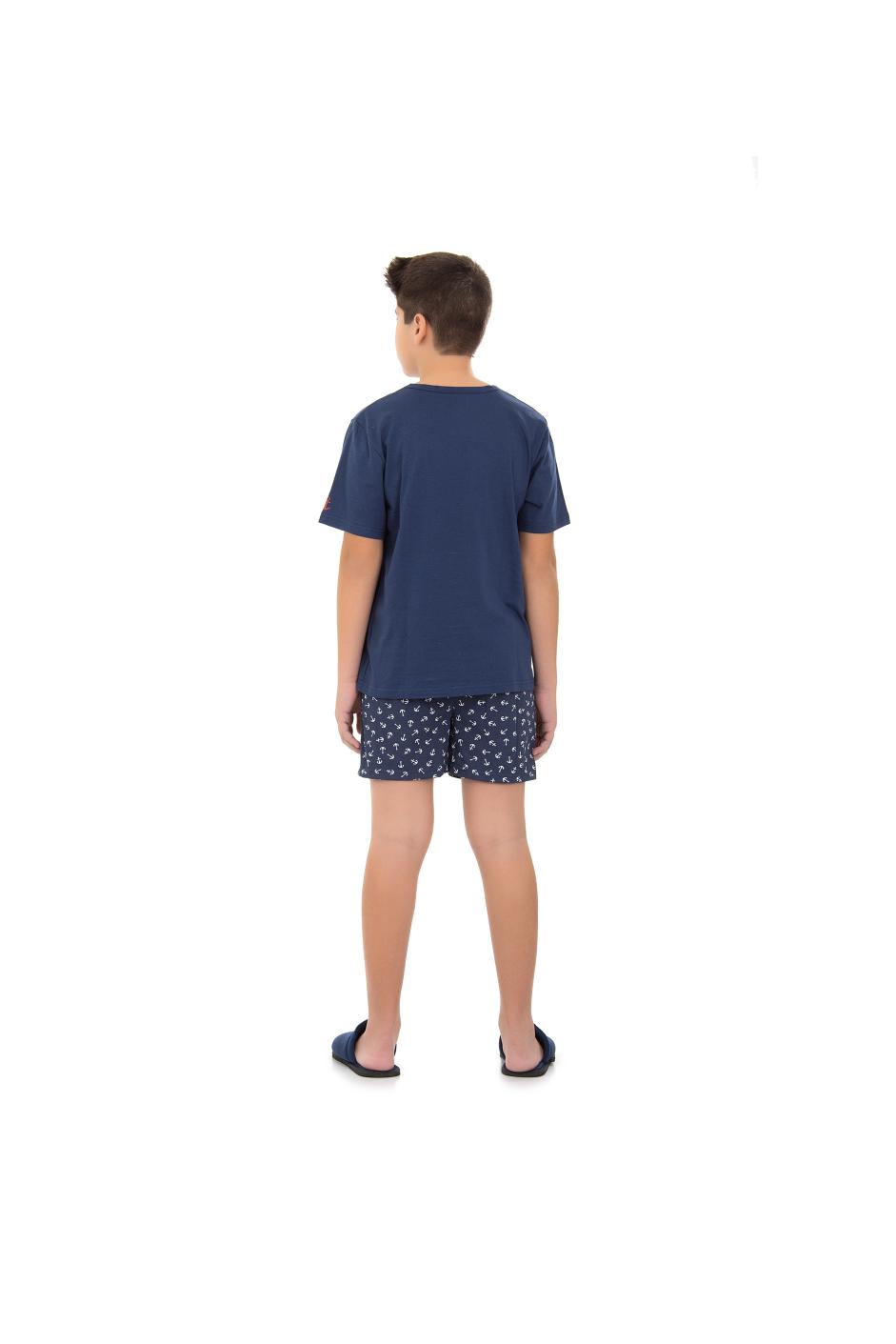 Pijama Masculino Curto Juvenil