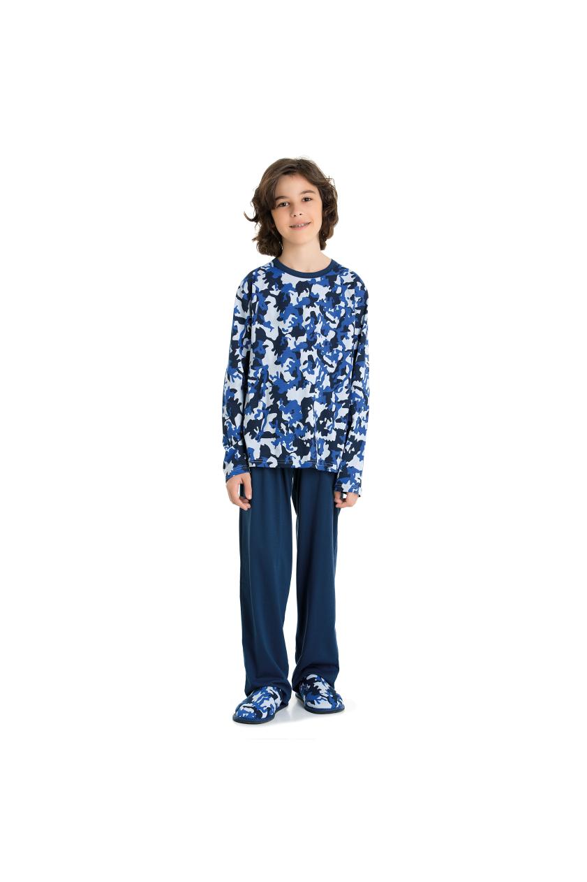 010/F - Pijama Masculino Juvenil Moletinho