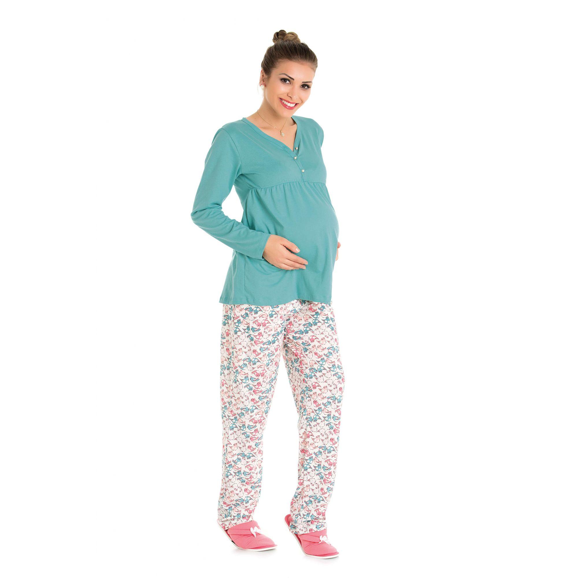 Pijama Maternidade Estampado