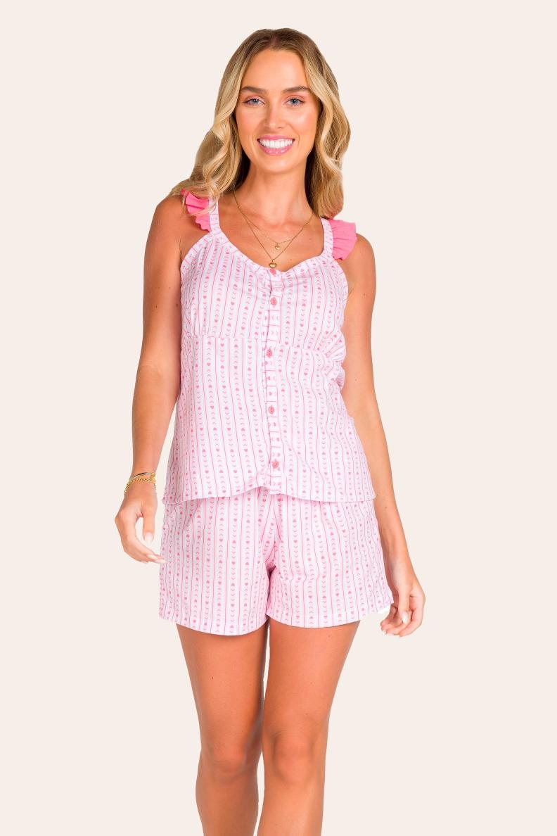 023/A - Pijama Curto Adulto Feminino De Alcinha
