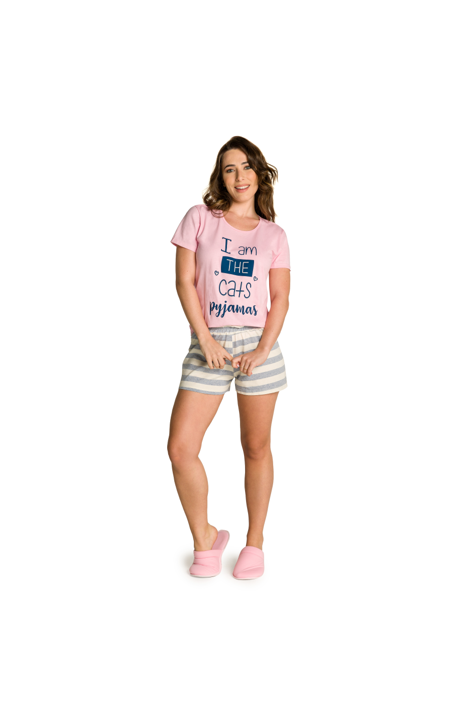 009/A - Short Doll Adulto Feminino Familia Cats