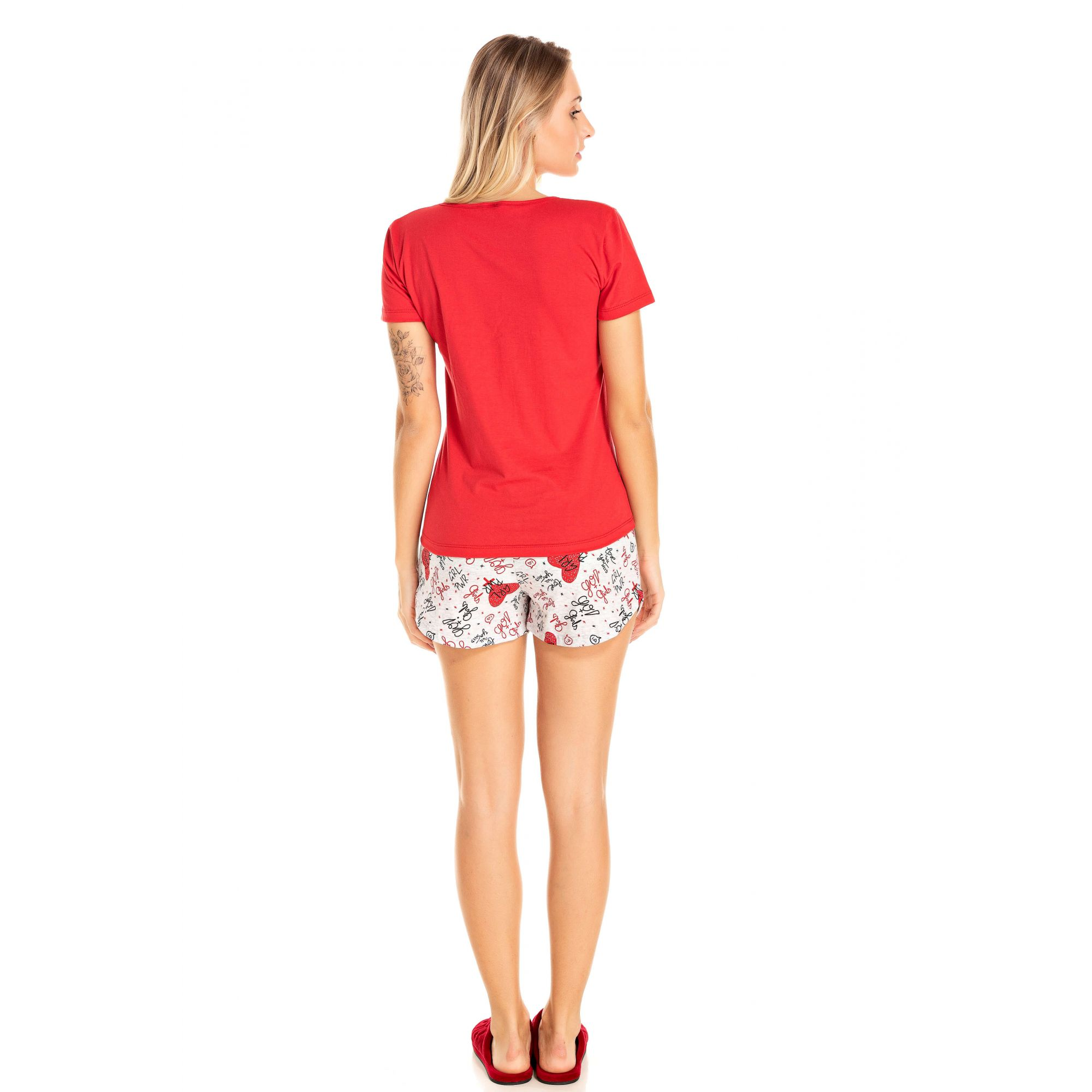 112/I - Short Doll Adulto Feminino Girl Power