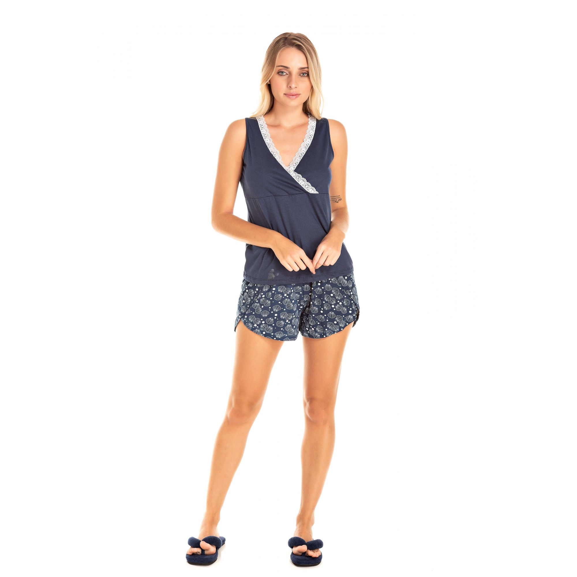 110/B - Short Doll Adulto Feminino Glamour