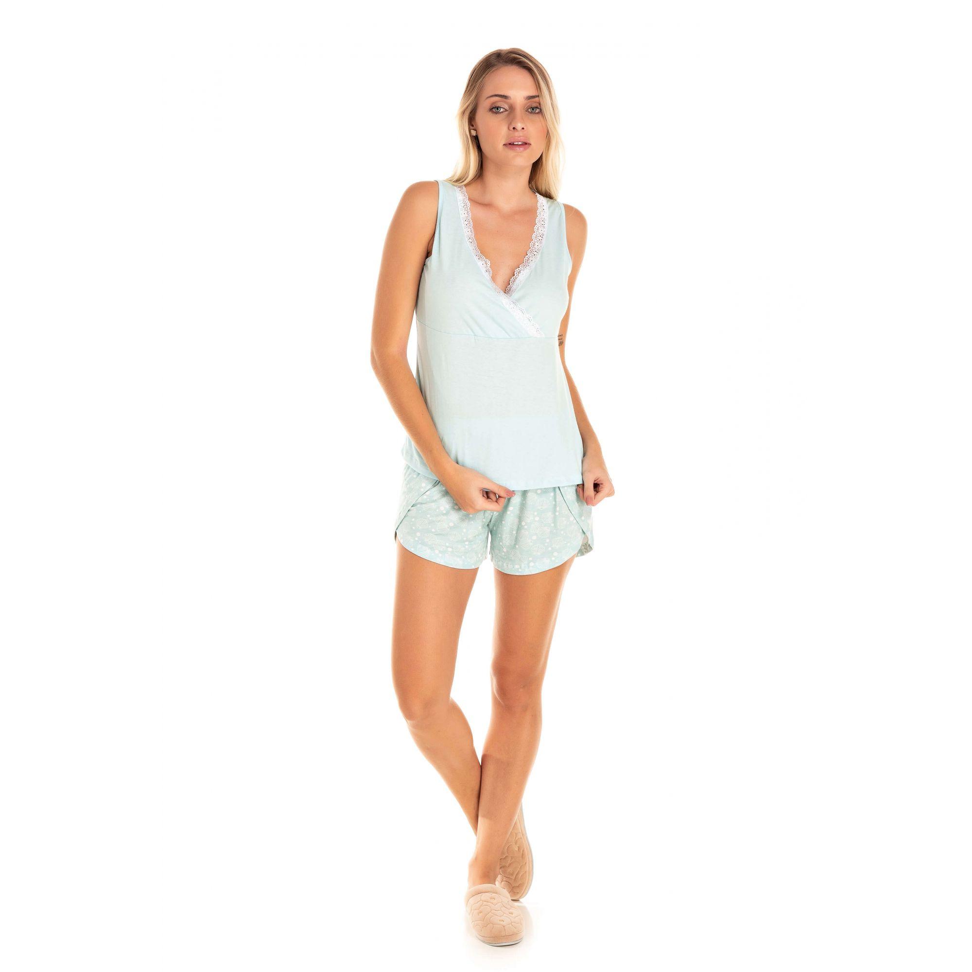 Short Doll Adulto Feminino Glamour - Azul