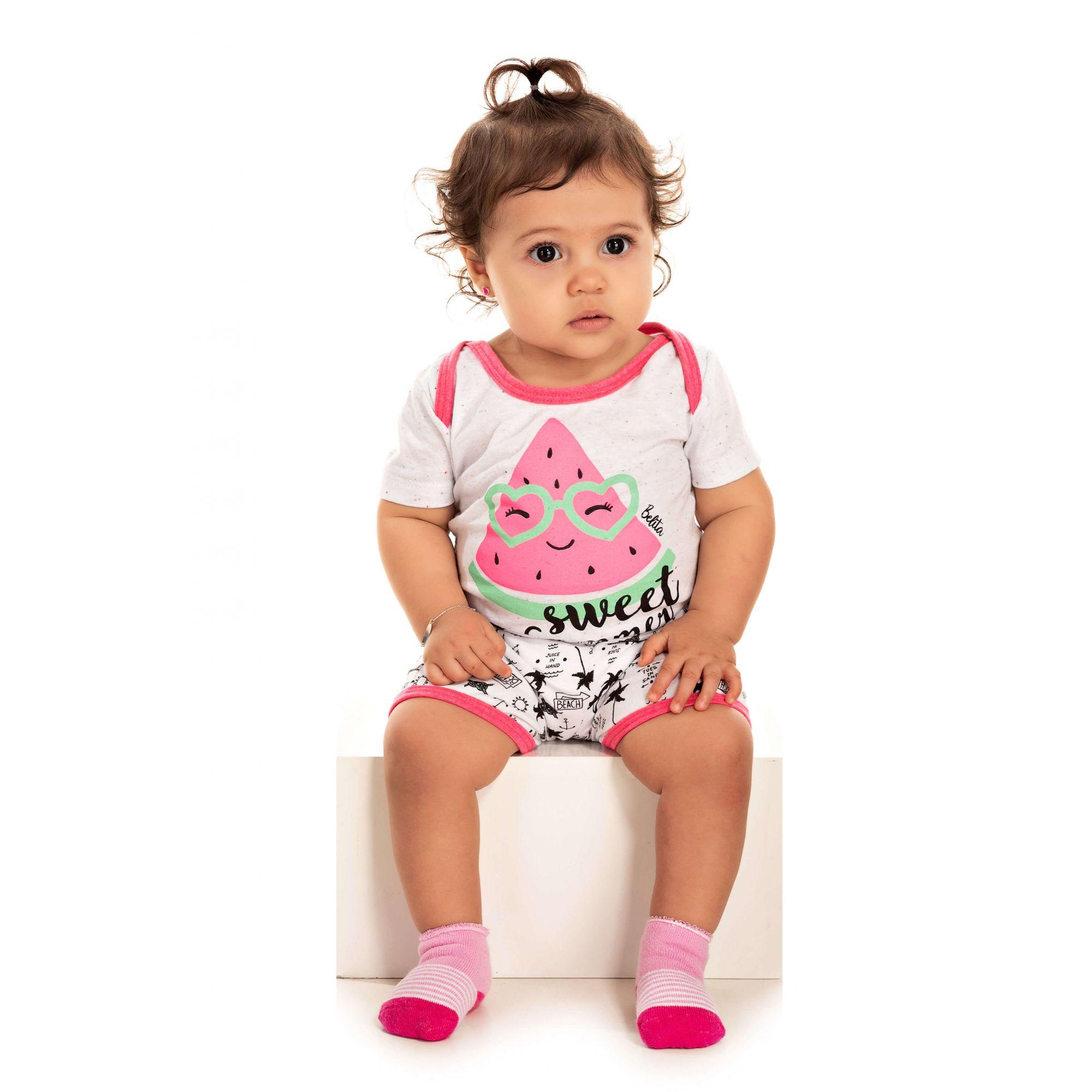 016 - Short Doll Bebê Feminino Sweet Summer