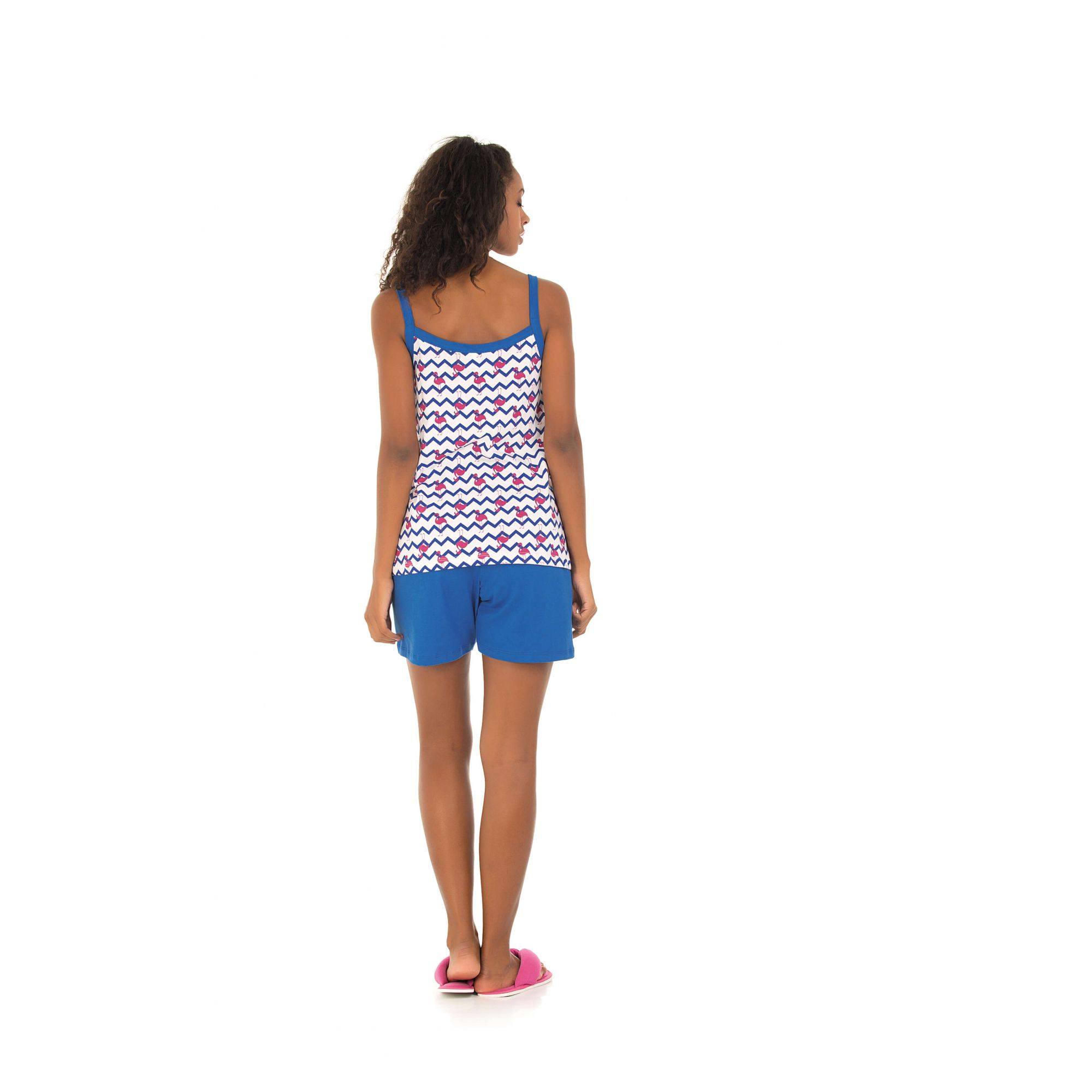 114/B - Short Doll Maternidade Flamingo