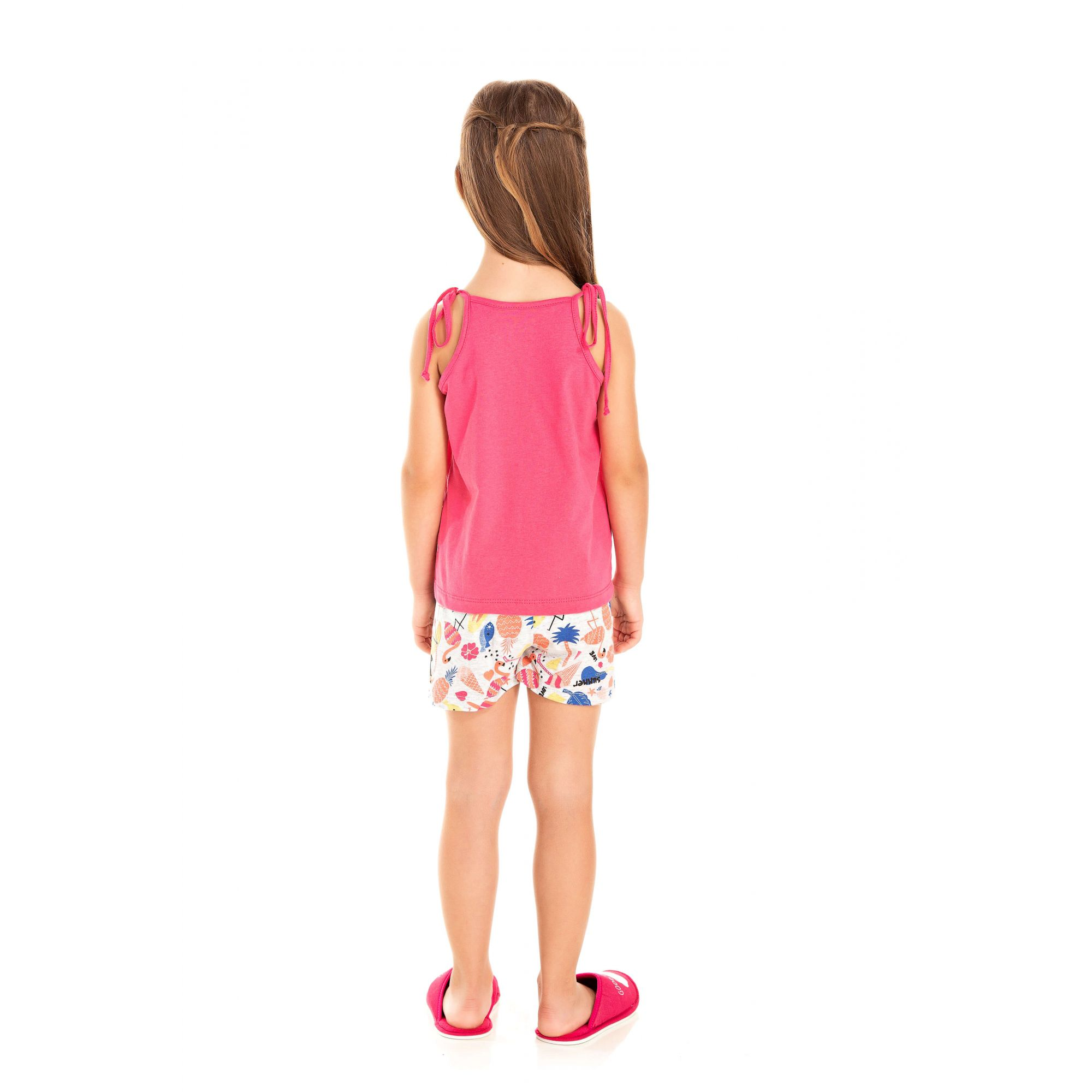 Short Doll Infantil Feminino Água Viva