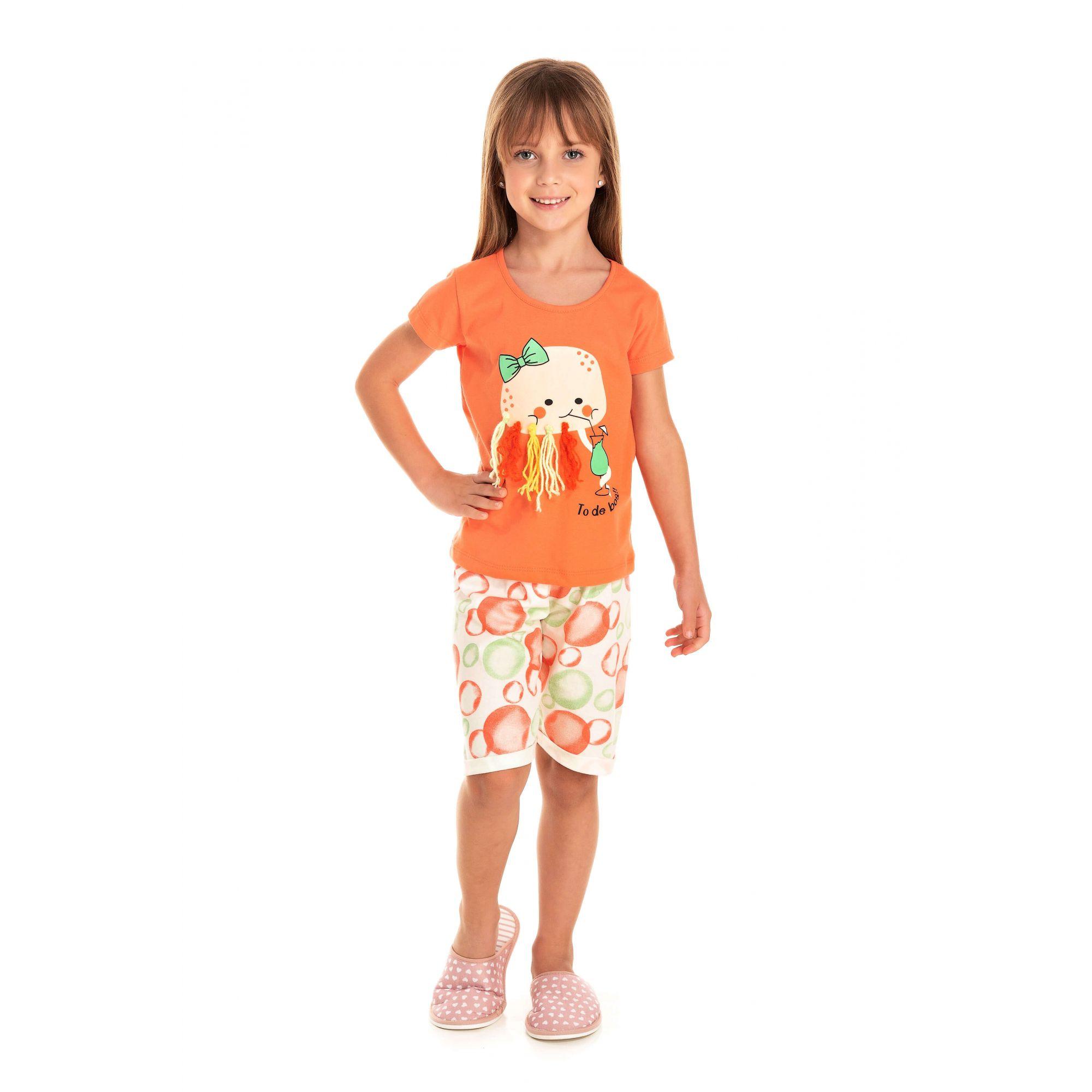 218/B - Short Doll Infantil Feminino Água Viva