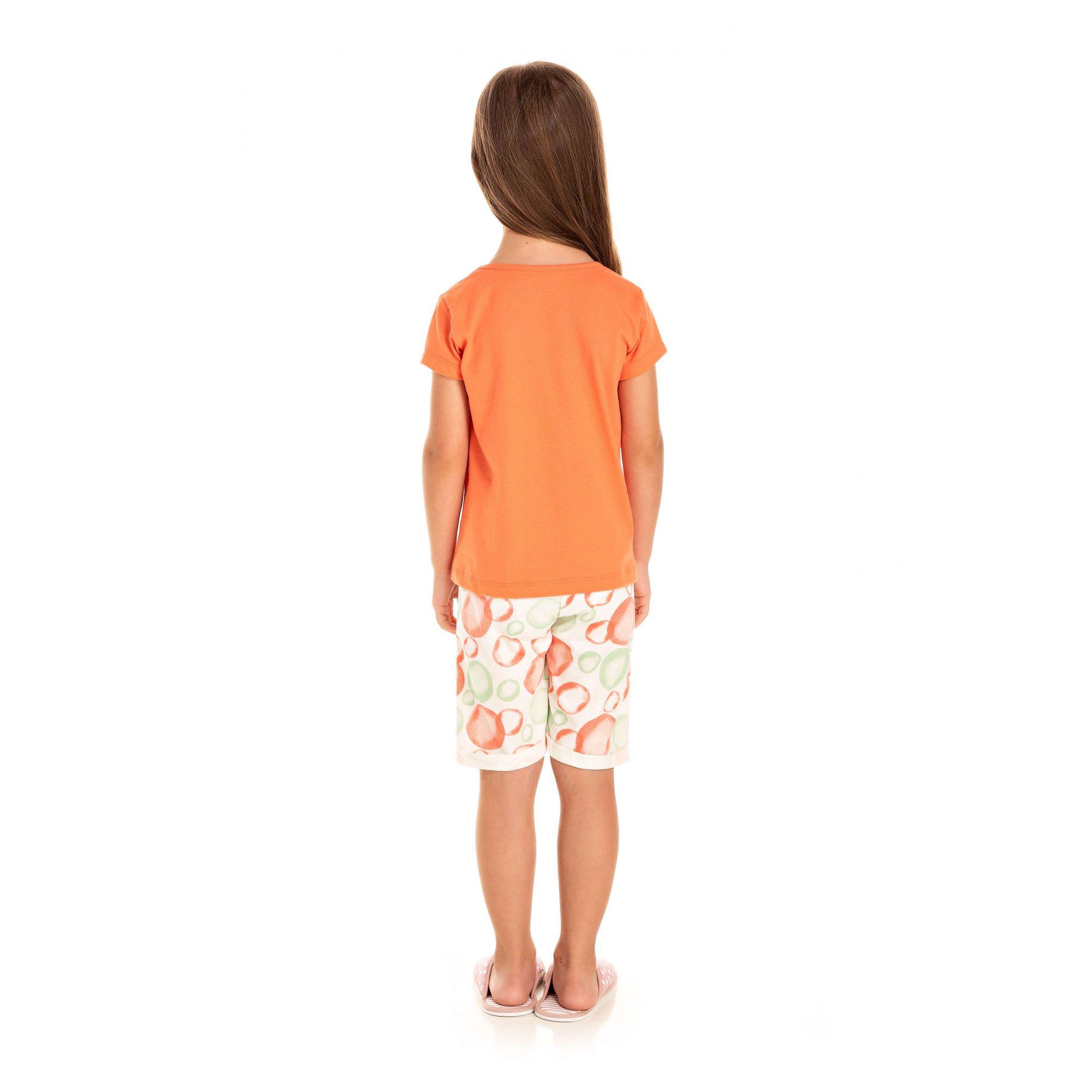206/L - Short Doll Infantil Feminino Água Viva