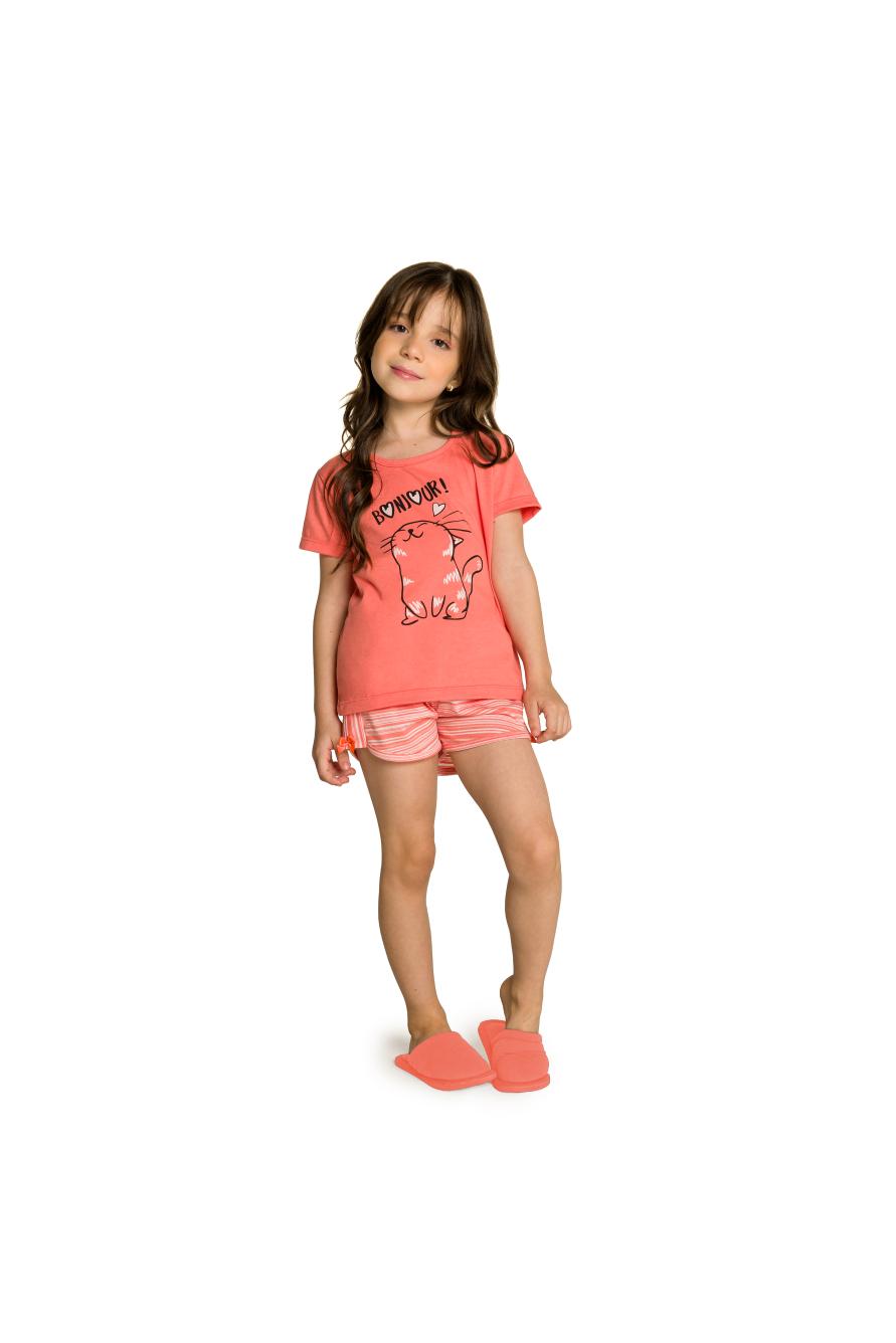 005/K - Short Doll Infantil Feminino Bonjour