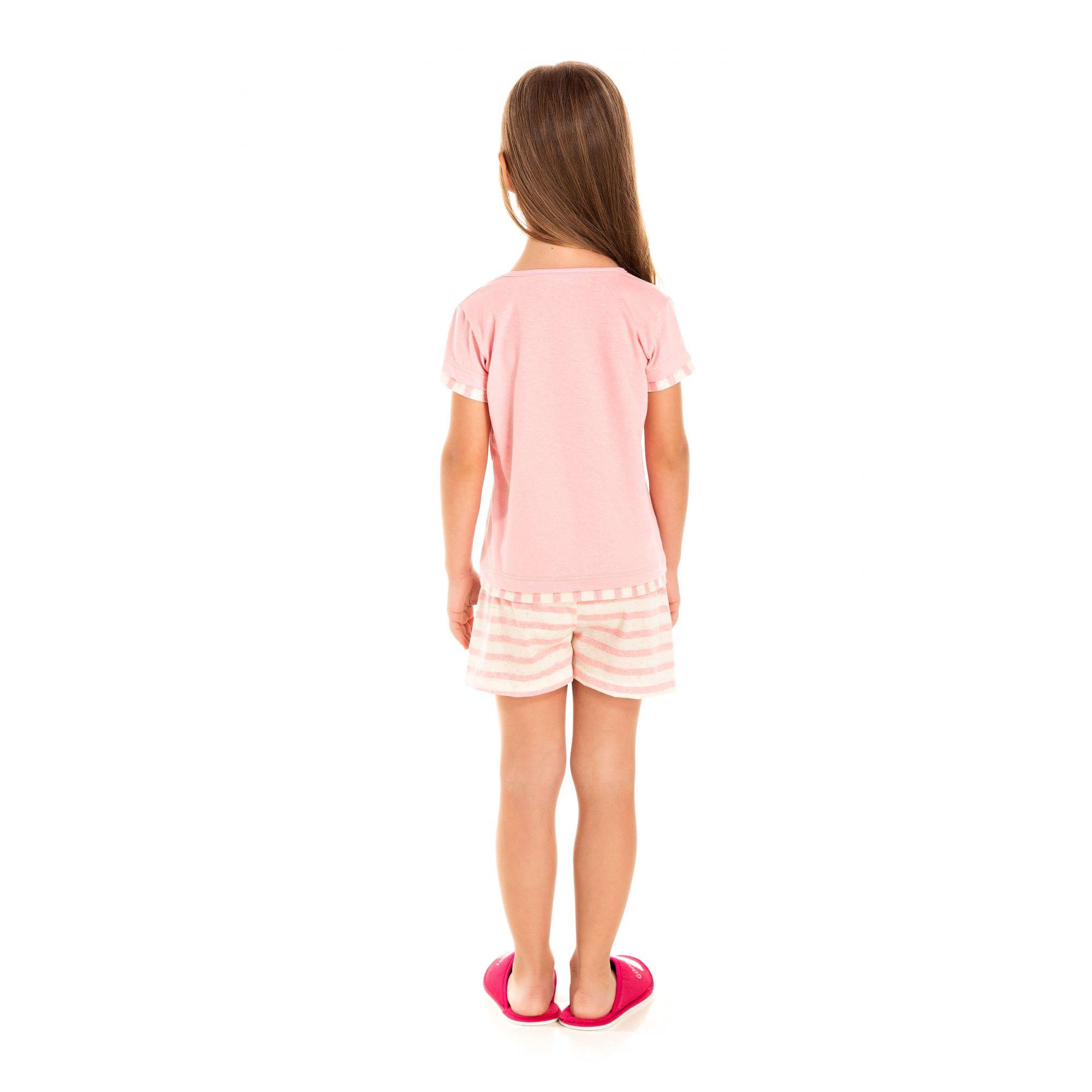 105/F - Short Doll Infantil Feminino Sorvete