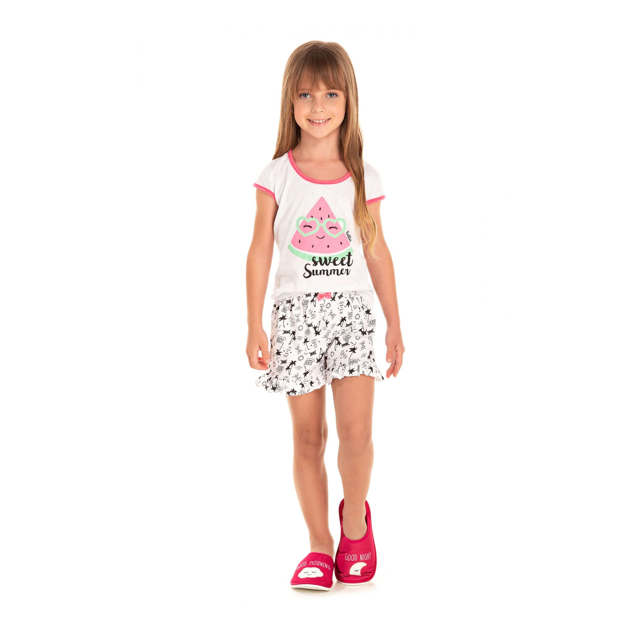 101/C - Short Doll Infantil Feminino Sweet Summer