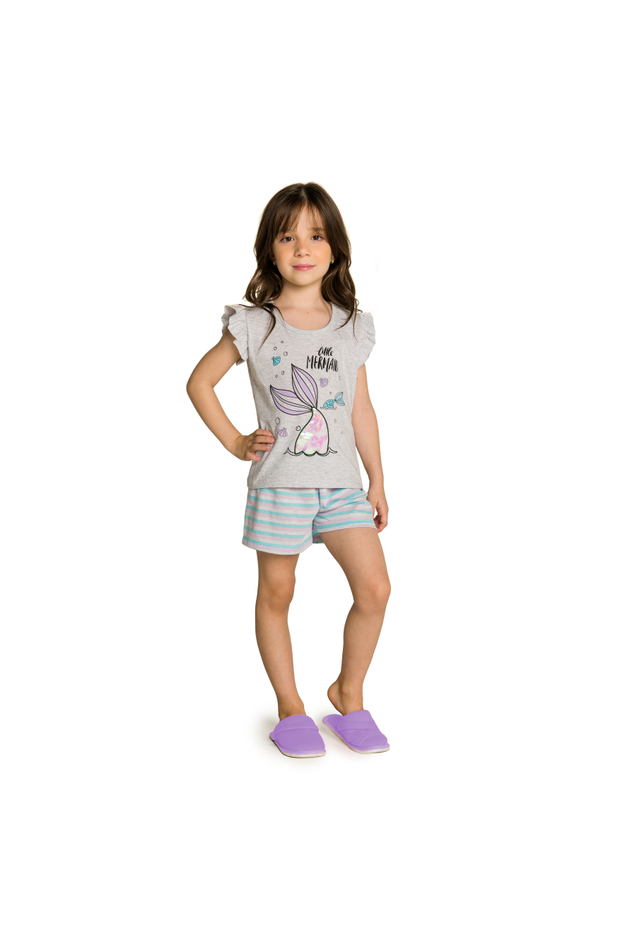 010/I - Short Doll Infantil Mermaid Interativo