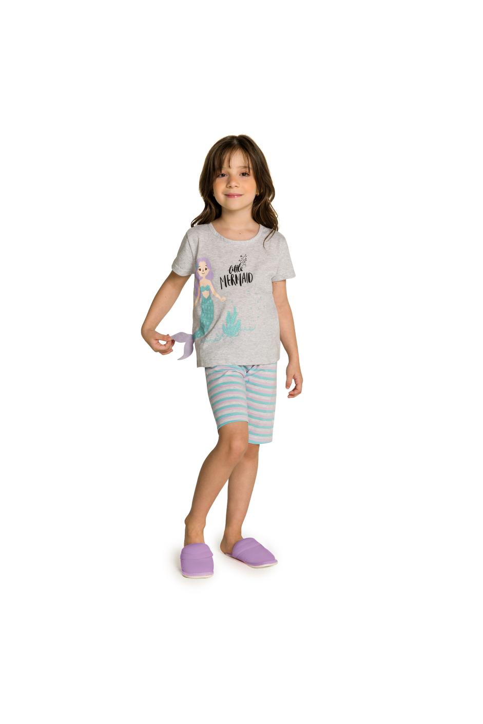 039/D - Short Doll Infantil Sereia Interativo com Feltro