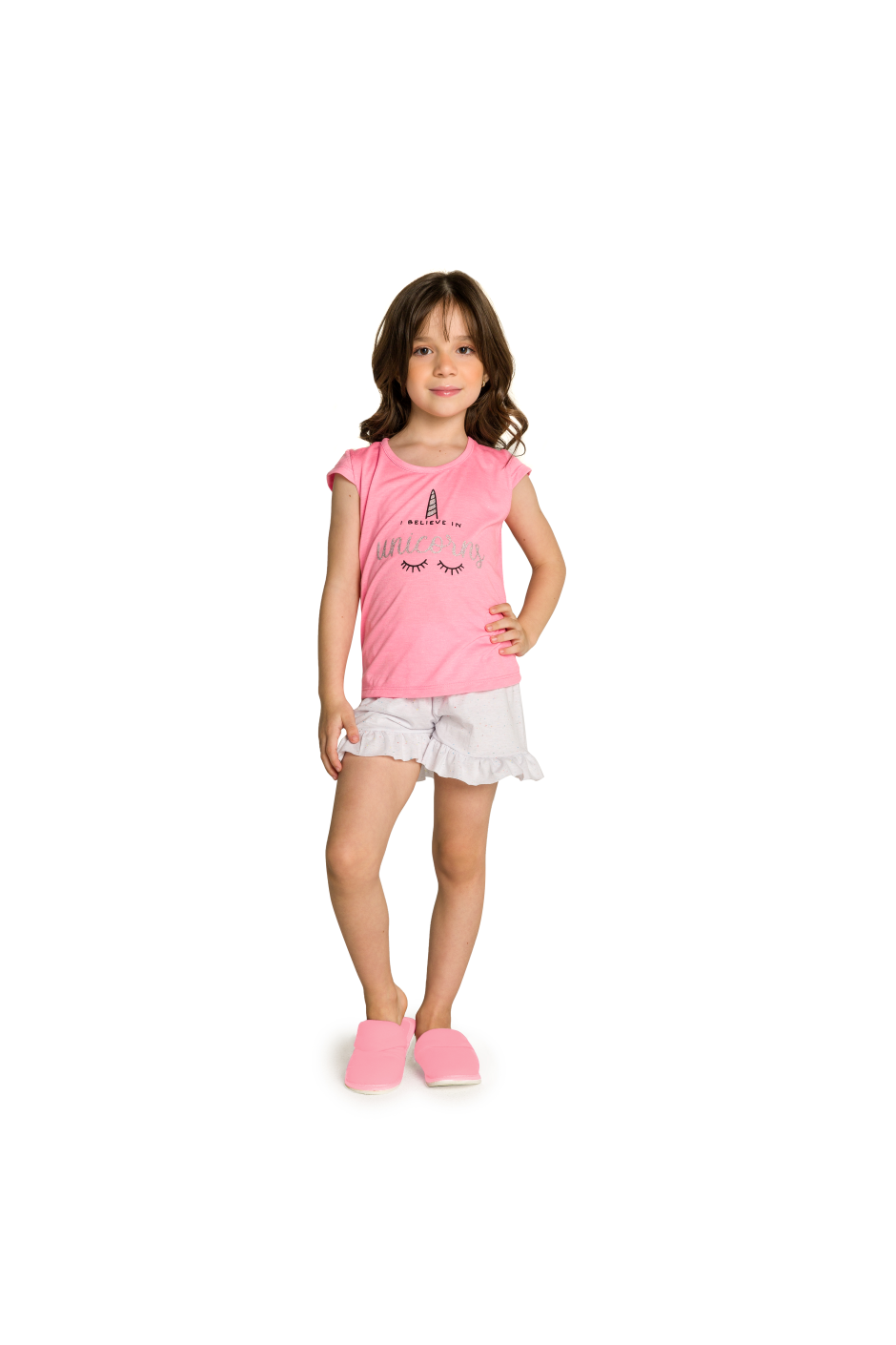 010/K - Short Doll Infantil Unicórnio I Believe In