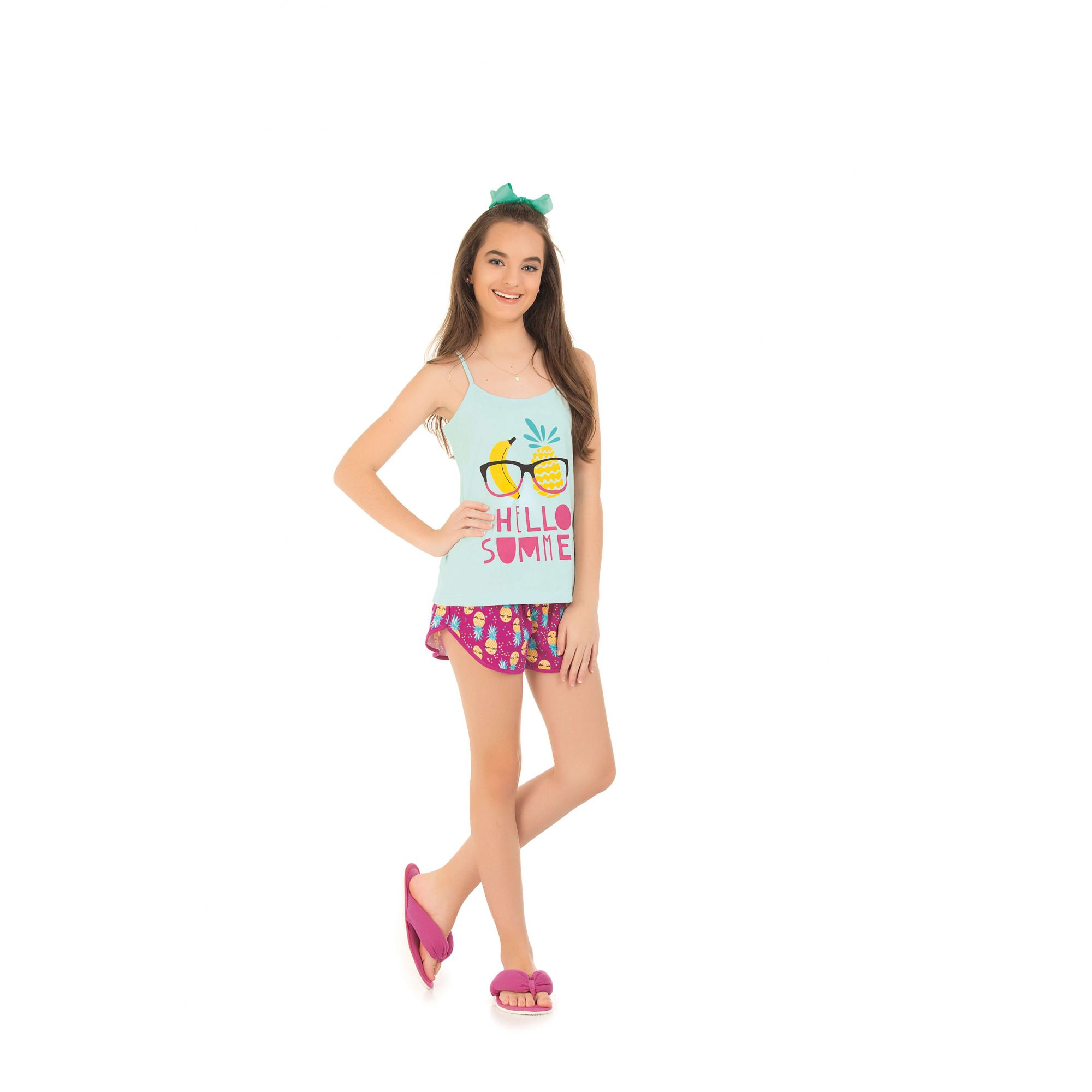 Short Doll Juvenil Alcinha - Verde