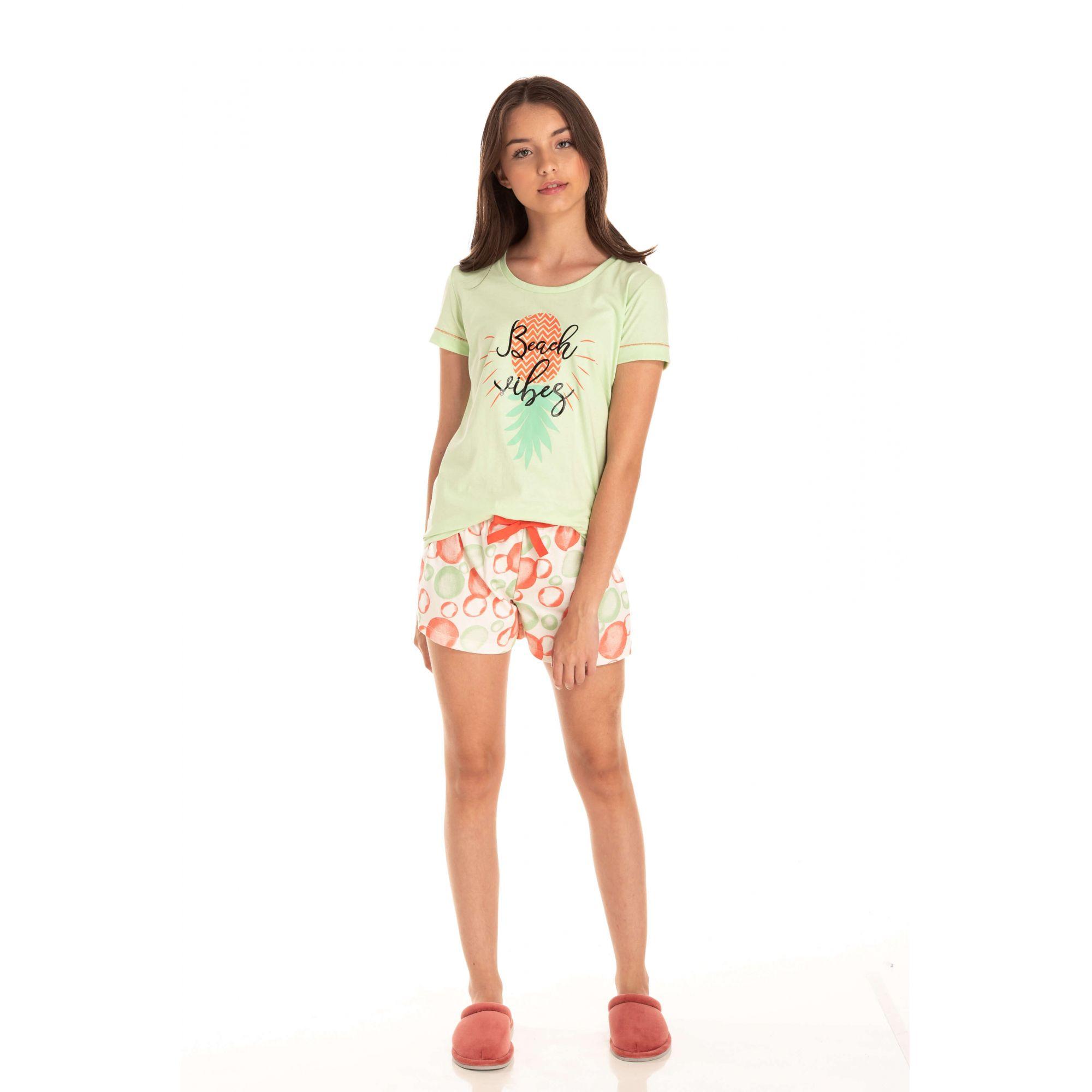 Short Doll Juvenil Feminino Beach Vibes - Verde