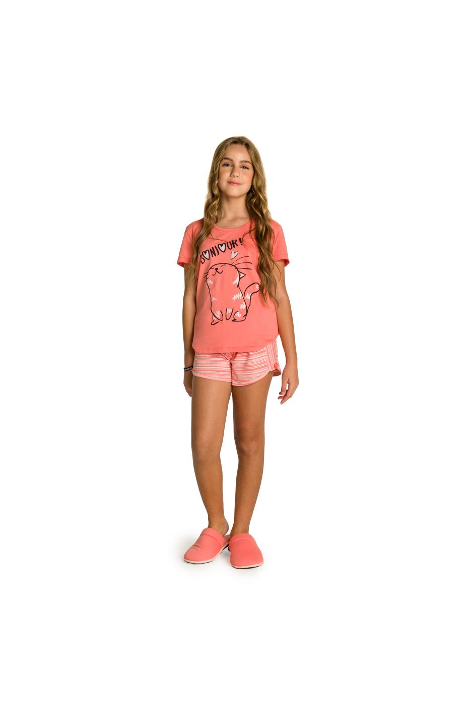 027/B - Short Doll Juvenil Feminino Bonjour
