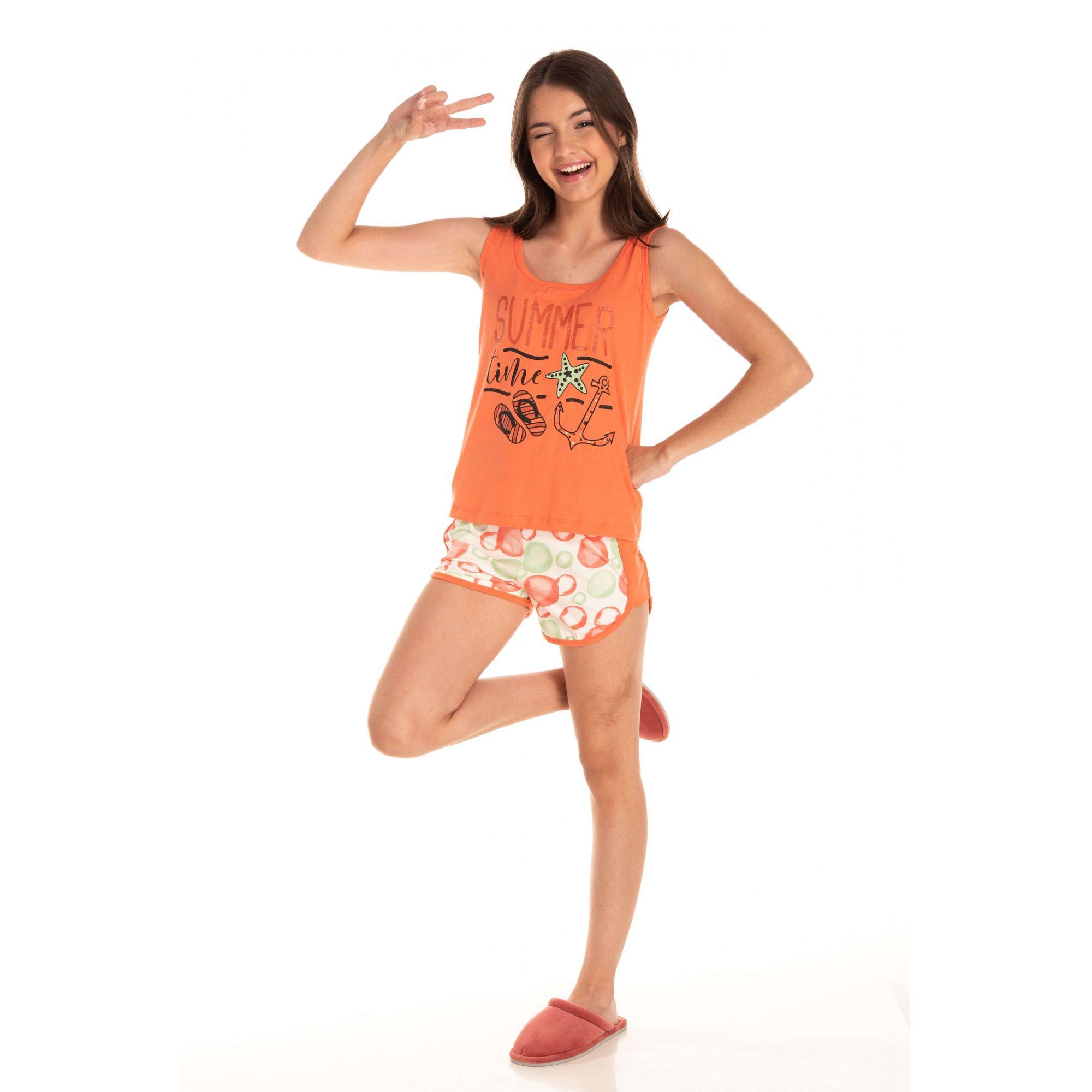 Short Doll Juvenil Feminino Summer - Coral