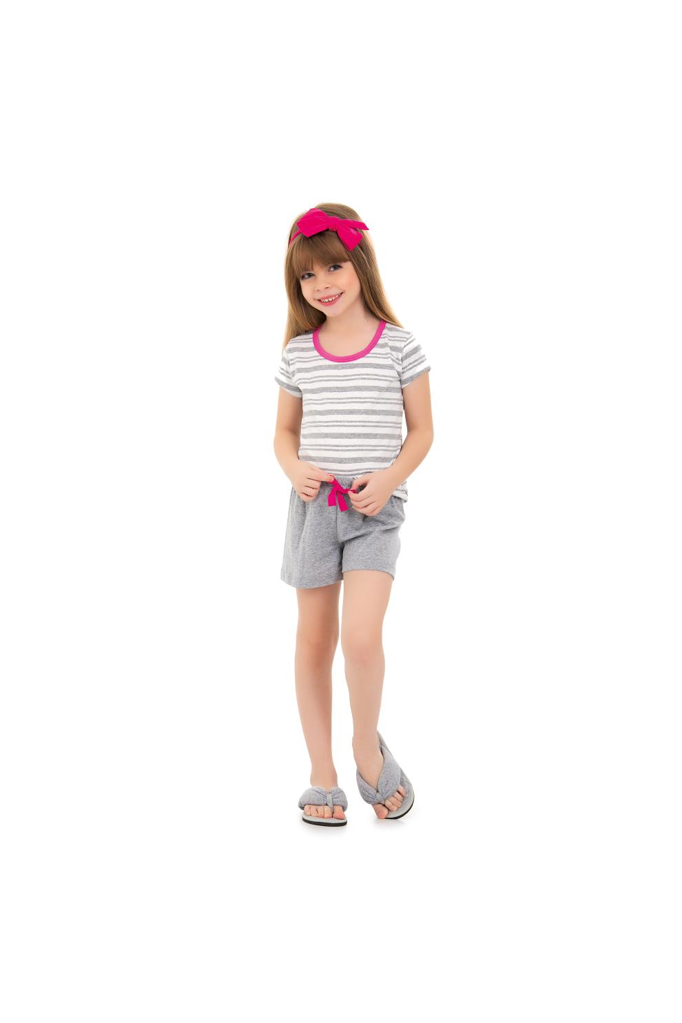 109/G - Short Feminino Doll Infantil Listrada Família