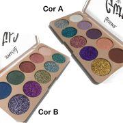Paleta de Sombras Glitter e Sombras em Pó Mega Effect Luisance 10 Cores
