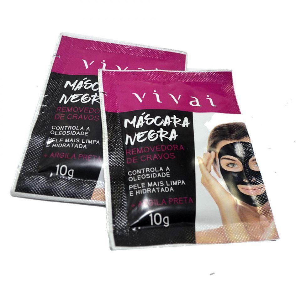Máscara Facial Negra de Argila Removedora de Cravos  Vivai