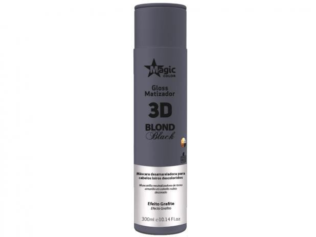 MATIZADOR GLOSS 3D BLOND BLACK 300ML - MAGIC COLOR