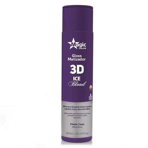 MATIZADOR GLOSS 3D ICE BLOND 300ML - MAGIC COLOR
