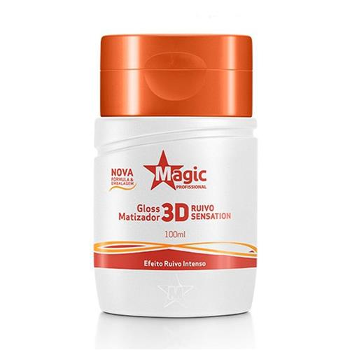 MATIZADOR GLOSS 3D RUIVO SENTATIONS - 100ML - MAGIC COLOR