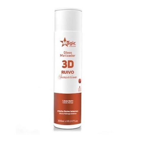 MATIZADOR GLOSS 3D RUIVO SENTATIONS 300ML - MAGIC COLOR