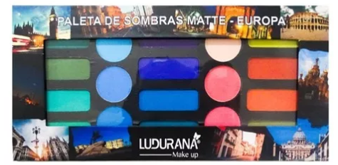 Paleta De Sombras Europa Matte Ludurana
