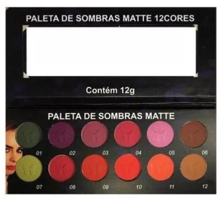 Paleta De Sombras Matte 12 Cores Ludurana