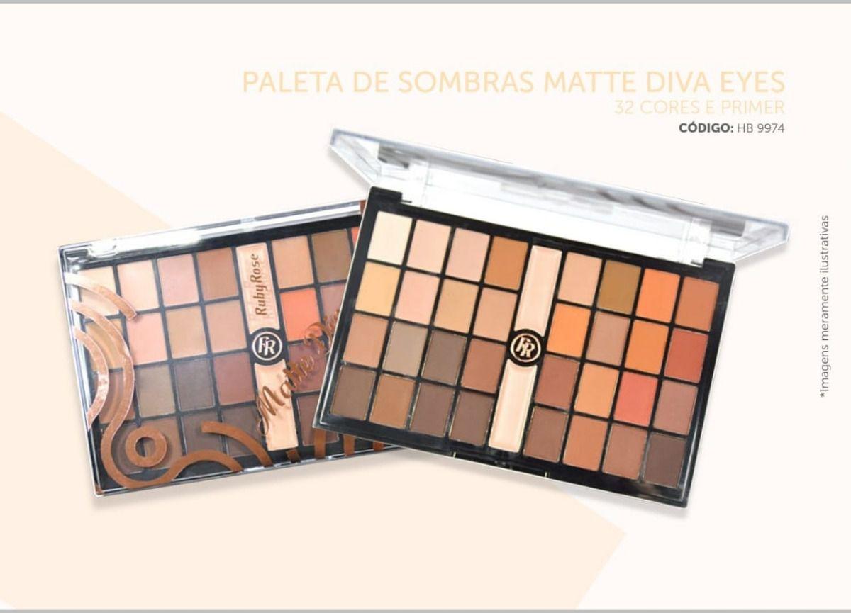 Paleta de Sombras Matte Diva Eyes Ruby Rose