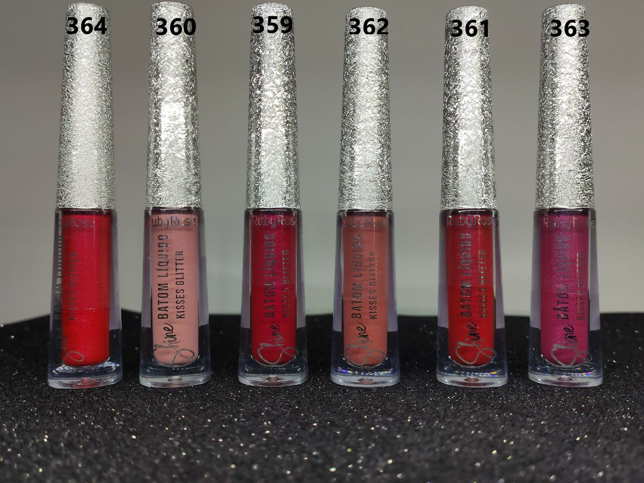 RUBY ROSE SHINE BATOM LIQUIDO KISSES GLITTER - G2 - RUBY ROSE
