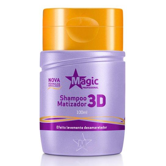 SHAMPOO MATIZADOR 3D DESAMARELADOR 100 ML - MAGIC COLOR