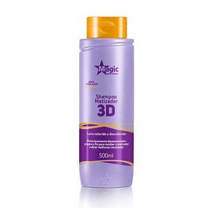 SHAMPOO MATIZADOR 3D DESAMARELADOR 500 ML - MAGIC COLOR