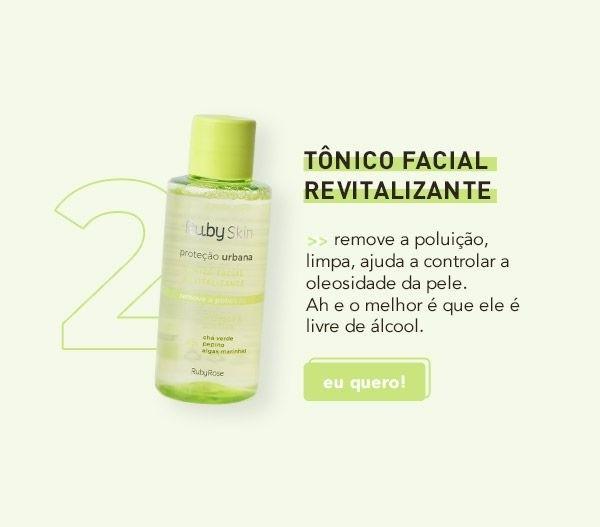 TONICO FACIAL REVITALIZANTE PROTEÇAO URBANA - RUBY ROSE