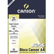 Bloco Canson Desenho Branco 180g/m² A4 210 x 297 mm com 20 Folhas