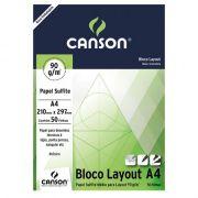 Bloco Canson Layout – 90g/m² A4 210 x 297 mm com 50 Folhas