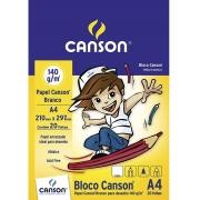 """Bloco Desenho Branco """"C""""A grain"""" Linha Infantil 140 g/m² A4 210 x 297 mm com 20 Folhas Canson"""