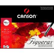 Bloco Figueras, 10 Folhas, 33x41 290g/m², Canson